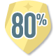 Badge 80%